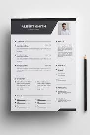 Albert Smith Resume Template Retail Logo Typography Simple