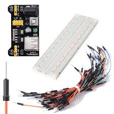 MB102 830 Point Solderless PCB Breadboard Set Jump Cable ...
