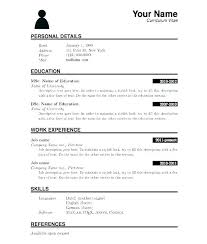 Free Printable Resumes Airexpresscarrier Com