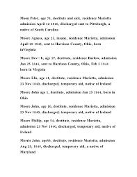 washington county ohio infirmary register partial list 43