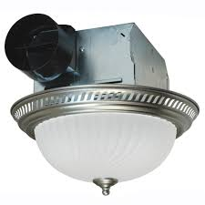 bathroom ceiling exhaust fans with light. Air King Decorative Nickel 70 CFM Ceiling Exhaust Fan With Light-DRLC702 - The Home Depot Bathroom Fans Light