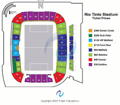 rio tinto stadium seating charts rio tinto stadium tickets
