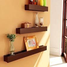 Small Picture Artesia Brown Wooden Wall Shelf Display Rack Shelf Set Of Three