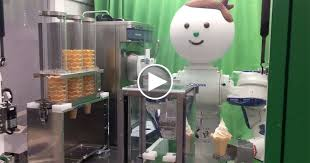 Mobile Ice Vending Machines Simple This Robot Vending Machine Will Serve You Ice Cream For 48 Yen