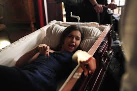 i m pretty sure at one point during this scene in the finale i had fallen into such a deep sleep that i started snoring dobrev says of filming elena s