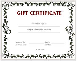 Blank Gift Certificate Form Under Fontanacountryinn Com