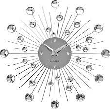 karlsson sunburst wall clock silver