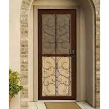 Unique Home Designs 36 In X 80 In Pima Tan Surface Mount Unique Home Designs Security Door