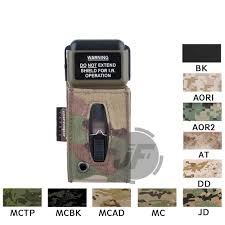 Military Strobe Light Us 11 95 Emerson Ms2000 Tactical Strobe Light Protective Pouch Emersongear Distress Marker Carrier Hook Loop For Mounting Helmets In Pouches From
