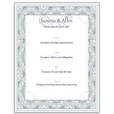 Download A Free Wedding Menu Card Template Diy And Save Money