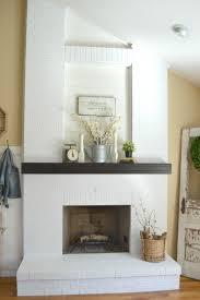 Gray Brick Fireplace How To Paint A Brick Fireplace Little Vintage Nest