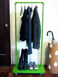 Homemade Metal Coat Rack Custom Keep Your Wardrobe In Check With Freestanding Clothing Racks