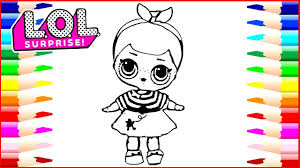 How To Draw Lol Surprise Dolls Coloring Page Drawing Pages To Color
