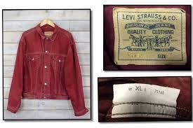 vintage red levis denim jacket vintage coloured levis denim jackets