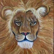 lion painting acrylic. Modren Lion Acrylic Painting Of Lion Face And Mane Throughout Lion Painting Acrylic U