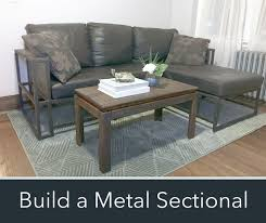 how to build a sectional couch. Perfect Couch Picture Of How To Make A Modern Metal U0026 Wood Sectional Sofa  Throughout To Build A Couch
