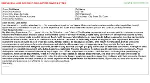Ticket Collector Cover Letters
