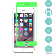 Green Light On Iphone Screen Neon Green Tempered Glass Film Screen Protector Colored For