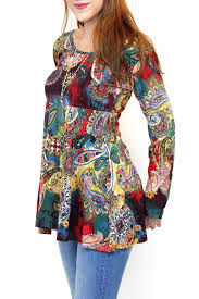 fashion fuse watercolour paisley tunic from vancouver by carte The Fuse Box Paisley fashion fuse watercolour paisley tunic front full image the fuse box paisley ltd