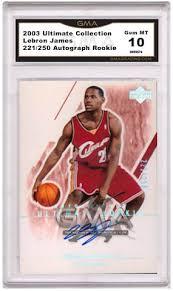 lebron rookie card. 2003 upper deck lebron james autograph rookie card a