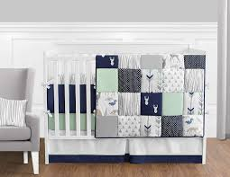 baby boy crib bedding sets blue pink deer crib bedding baby deer crib bedding