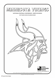 Nfl Vikings Coloring Pages To Print Coloring For Kids 2019