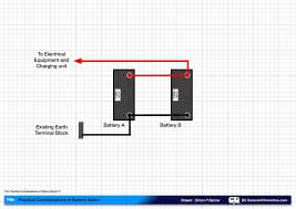 how to connect two batteries in parallel part 2 caravan Leisure Battery Wiring Diagram practical considerations of battery banks 01 motorhome leisure battery wiring diagram