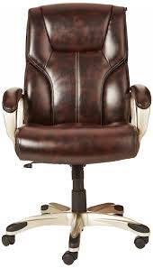Brown Desk Chair Best Of Basics High Back Executive Items Brown Leather Desk Chair L61