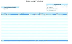 Trip Planner Calculator Free Trip Planners Travel Planning Spreadsheet Template