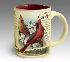 a coffee mug to sip from while bird watching