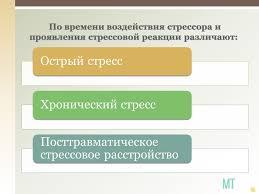 Производственный стресс Презентация • Блог Михаила Титова Школа  По времени воздействия стрессора и проявления стрессовой реакции различают