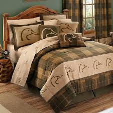 texas bedding sets ducks unlimited comforter sham bedding set plaid full queen and king