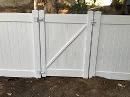 vinyl fence gate hardware. White Vinyl Gate W/ Hardware Fence