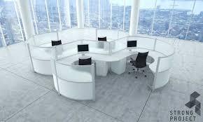 futuristic office furniture. Curved Workstations - Futuristic Office Furniture A