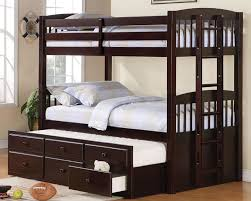 cappuccino twin twin bunk bed with trundle ashley unique furniture bunk beds