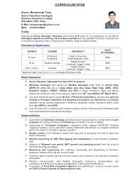 Geologist Cover Letter – Resume Sample Source