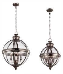 glass orb lighting. Vintage Orb Glass \u0026 Antique Nickel Pendant Lighting L