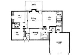 1400 sq ft ranch house plans fresh ranch style house plan 3 beds 2 baths 1400