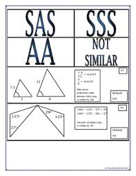proving triangles similar cut match paste group activity