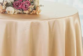 90 round satin tablecloth champagne 55528 1pc pk
