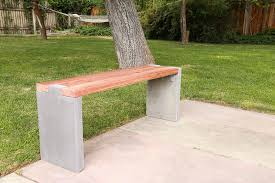 modern outdoor diy concrete bench with