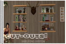 if you have nightlife and apartment life you can also have shelves on a half wall each shelf has 3 slots for a total of 9 slots