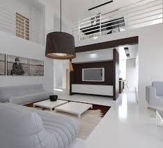 fascinating drum pendant and white interior house designs plus
