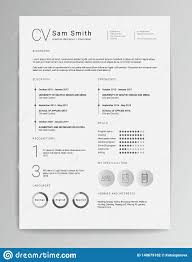 Modern Elegant Font For Resume Elegant Minimalistic Modern Vector Resume Or Cv Template