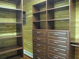 walk in storage with cedar paneling