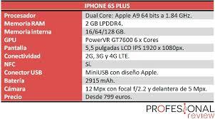 iphone 6 s caracteristicas