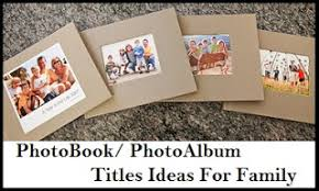 Family Photo Albums My Title
