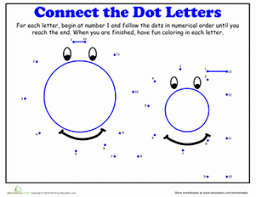 dot to dot alphabet dot