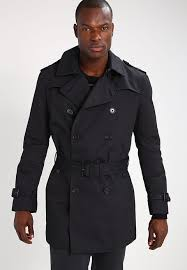 banana republic trenchcoat black for men