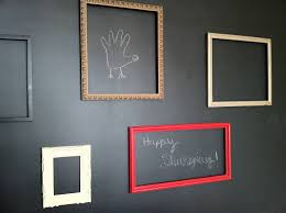 diy magnetic chalkboard with picture frames ideas for wall decoration also magnetic chalkboard using magnetic spray paint for home interior design and
